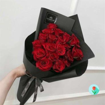 Ramo De 24 Rosas Rojas En Cartulina Pasteles De Fondant A Domicilio