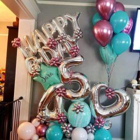 Bouquet de globos BDAY 45